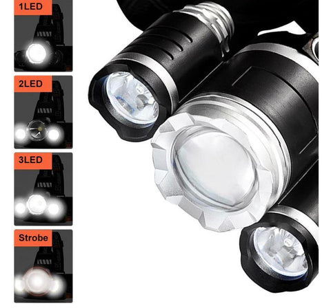 700 lm high-powered headlamp rechargeable