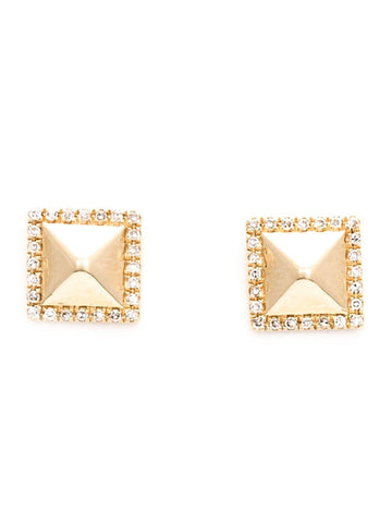 Pyramid Diamond Stud Earrings | PYRAMID DIA STUDS