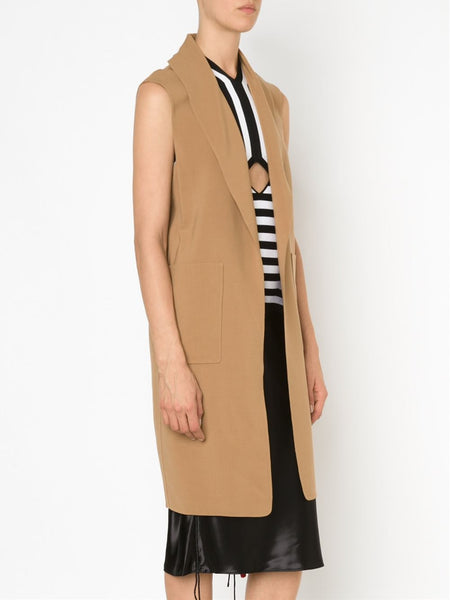 Sleeveless Wool Coat | 108119P16 FB2991P16