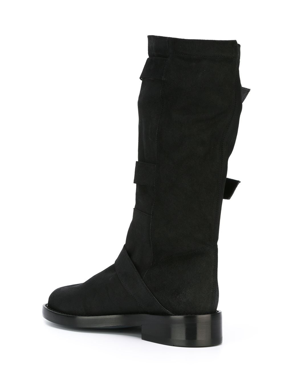 Buckled Reverse-Leather Boot | 1613-2822-376