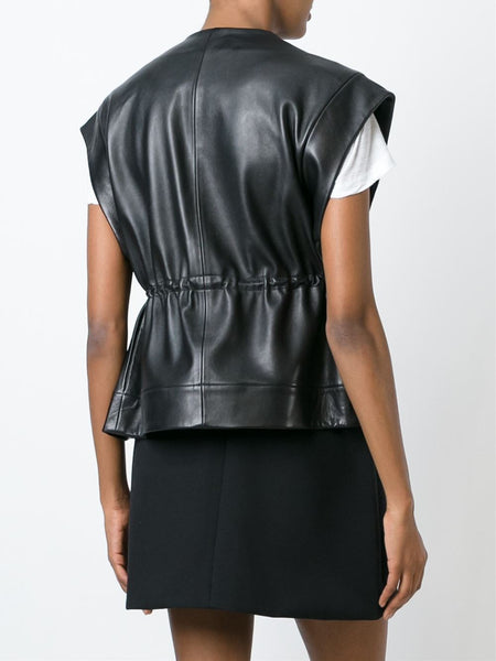 Sleeveless Lamb Leather Jacket | IRIS 16SWP07