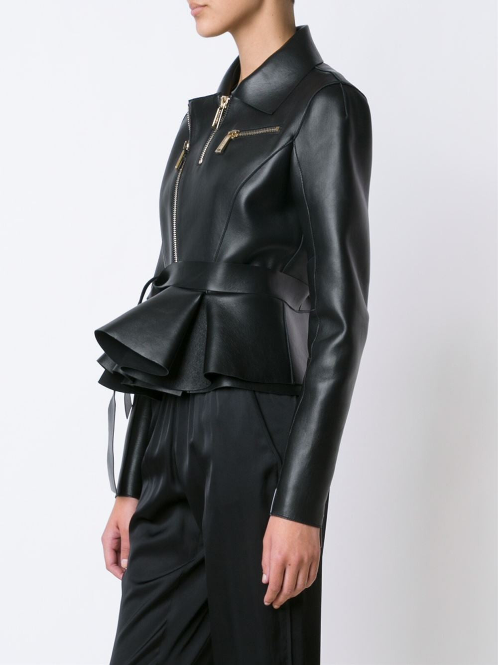 Structured Leather Jacket | S72AM0443 SX9862