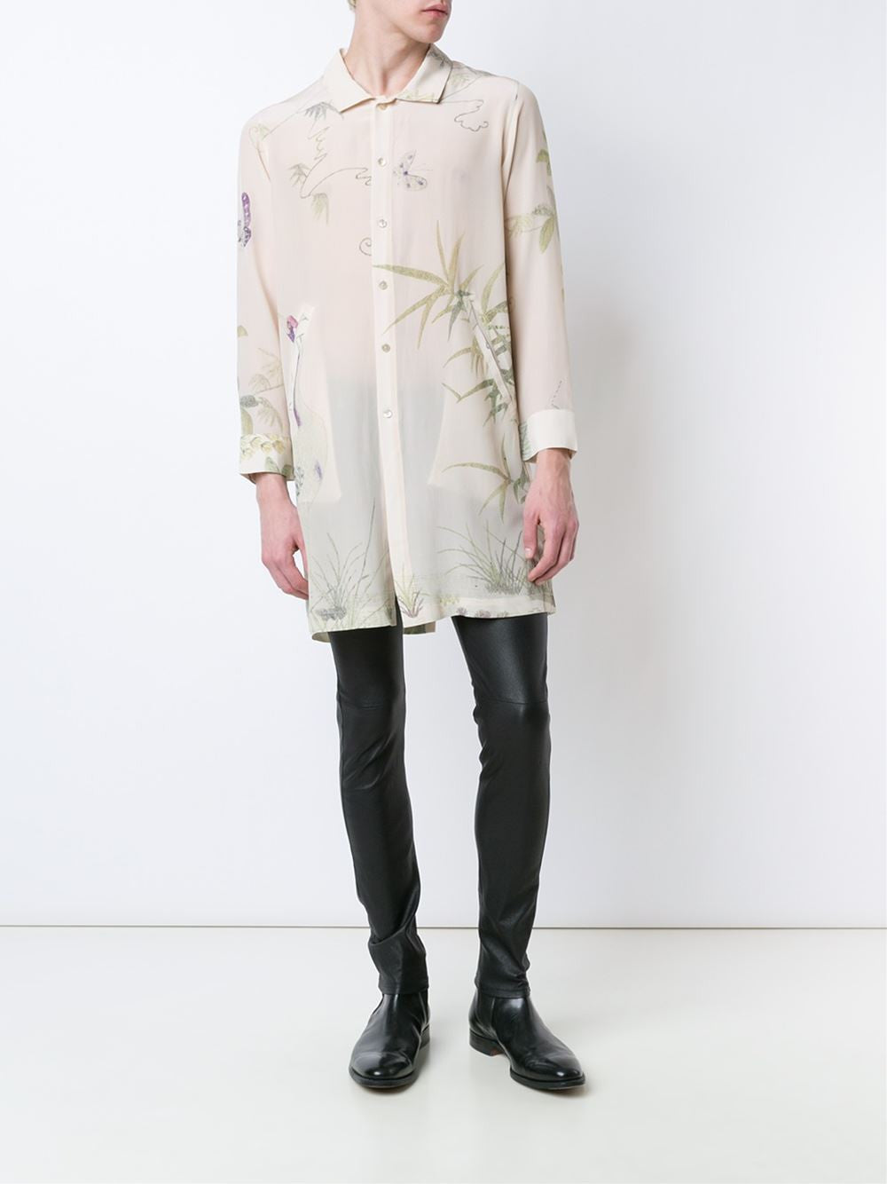 Long Silk 'Marco' Shirt | 110104M MARCO