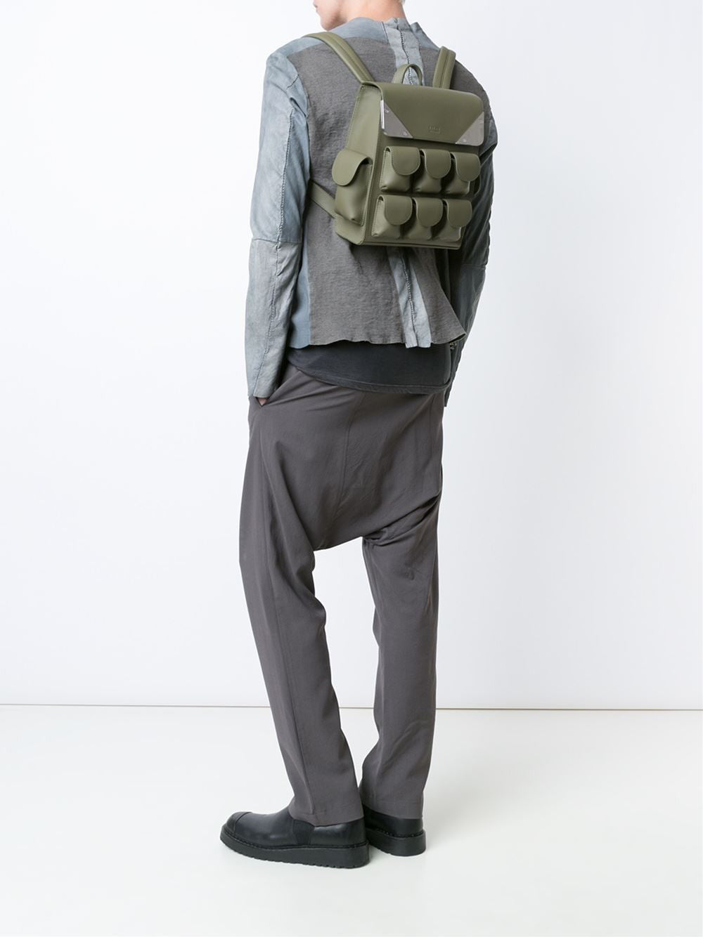Leather 'Micro Voyager' Knapsack | VLSMO004