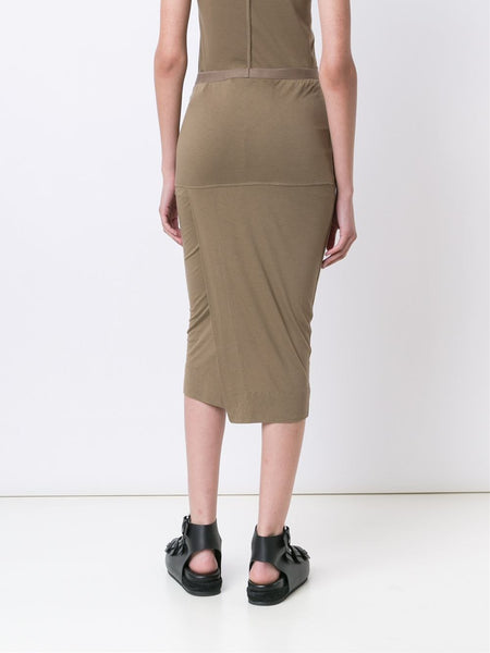 Viscose-Jersey Pillar Skirt | LI16S2306 GONNA SHORT PILLAR