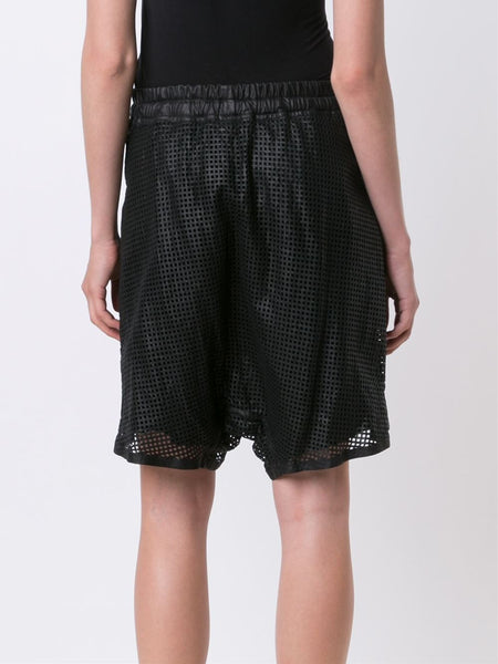 'Intrusive' Perforated Leather Short | INTRUSIVE