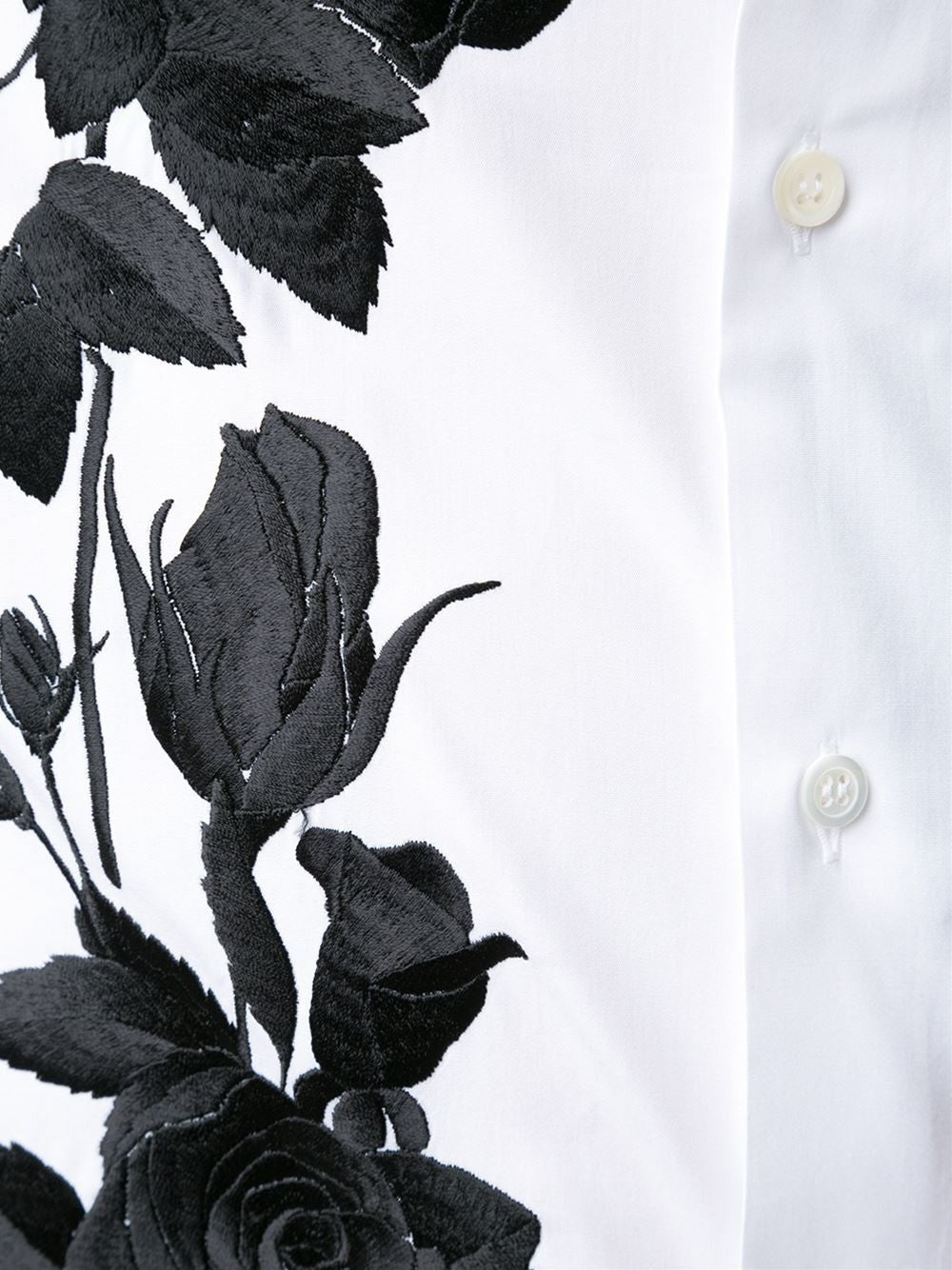 Rose Embroidered Cotton Shirt | 430133QHZN1