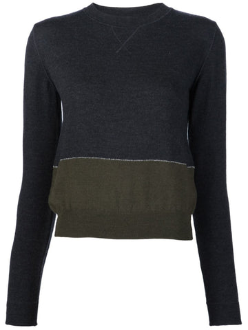 Paneled Wool Sweater | S52HA0065 S15673