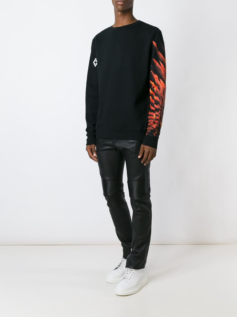 Graphic Cotton Pullover | CMBA009F16002104