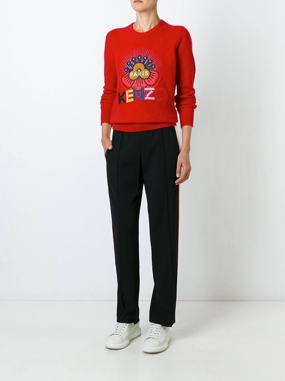 Embroidered Wool Pullover | F662-TO641844