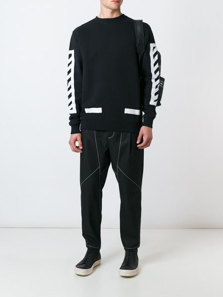 Graphic French Terry Pullover | OMBA-003F16-003010 BRUSHED D