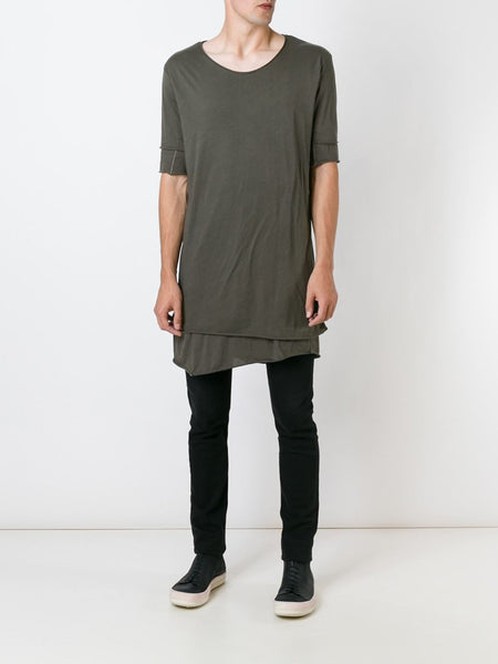 Long Layered Cotton Tee | MTS254