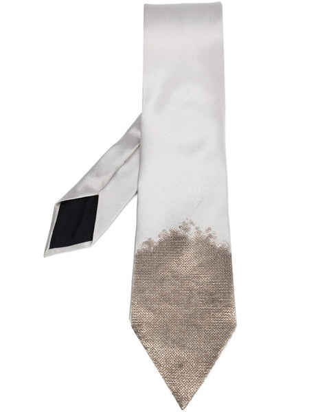 Sequined Silk Tie | 4294734011P