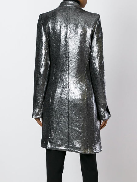 Metallic Linen Coat | 1602-1102-P-179-070