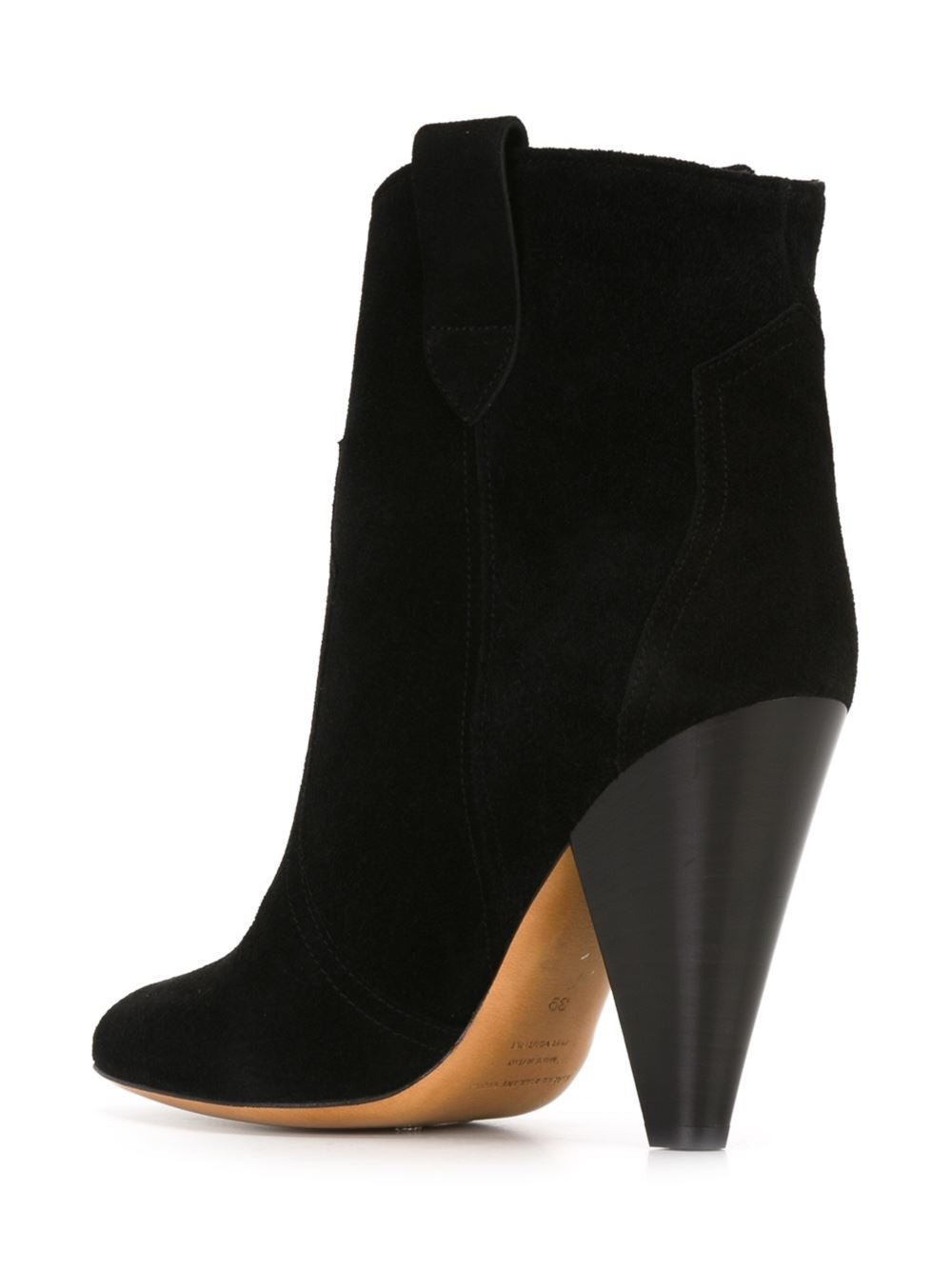 Heeled Reverse Leather Bootie | ROXANN BO0062-16POO1S