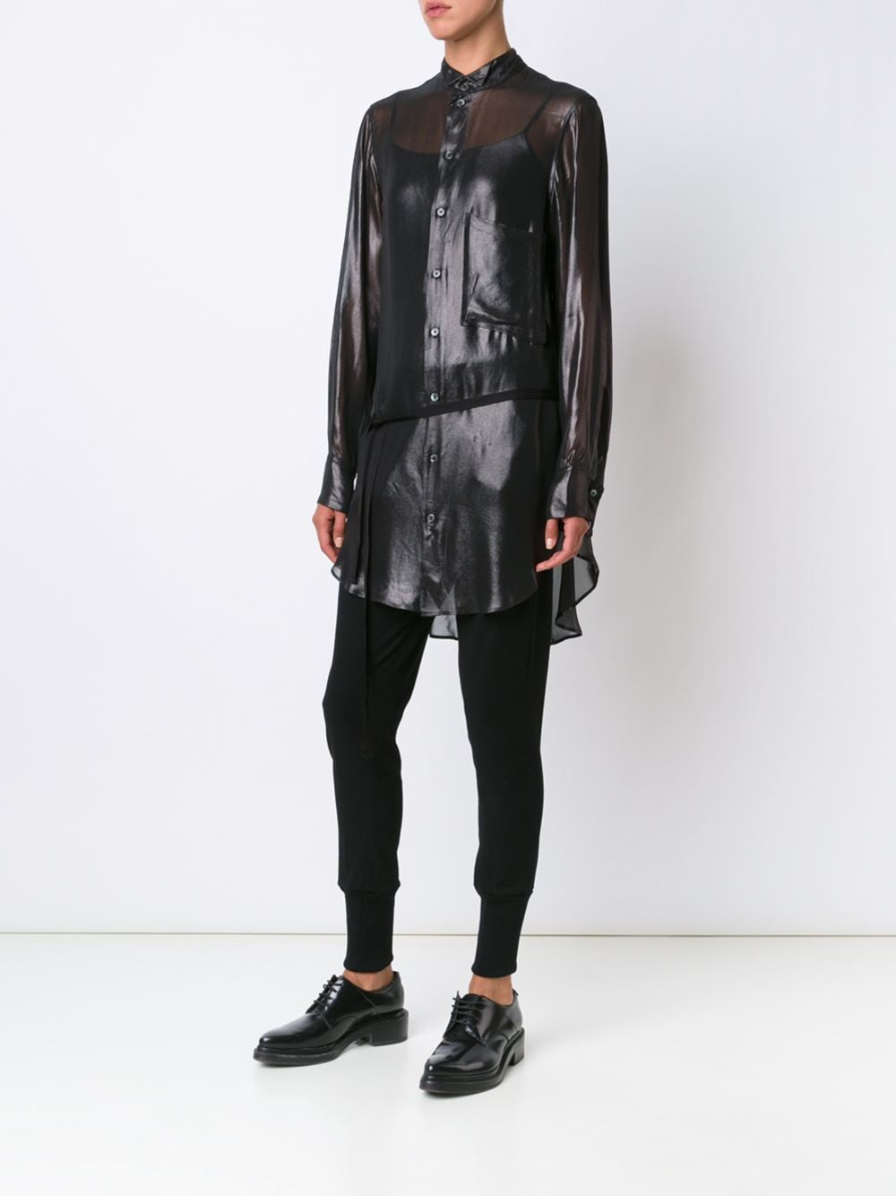 Long Semi-Sheer Shirt | 1602-2016-P-121-097