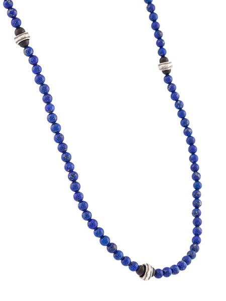Beaded Lapis Necklace | 6-N-1322-5 SS/LAPIS