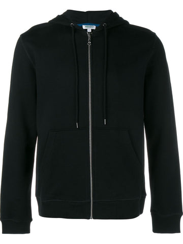 Zip-Up Embroidered Icon Hoodie | F665BL7214XJ