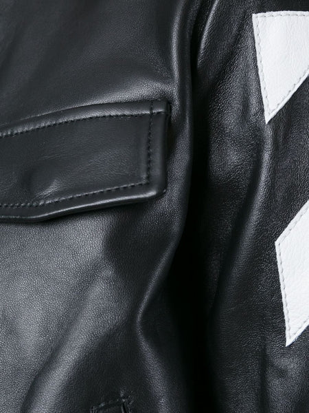 Lambskin Leather Jacket | OWEA029F16243080