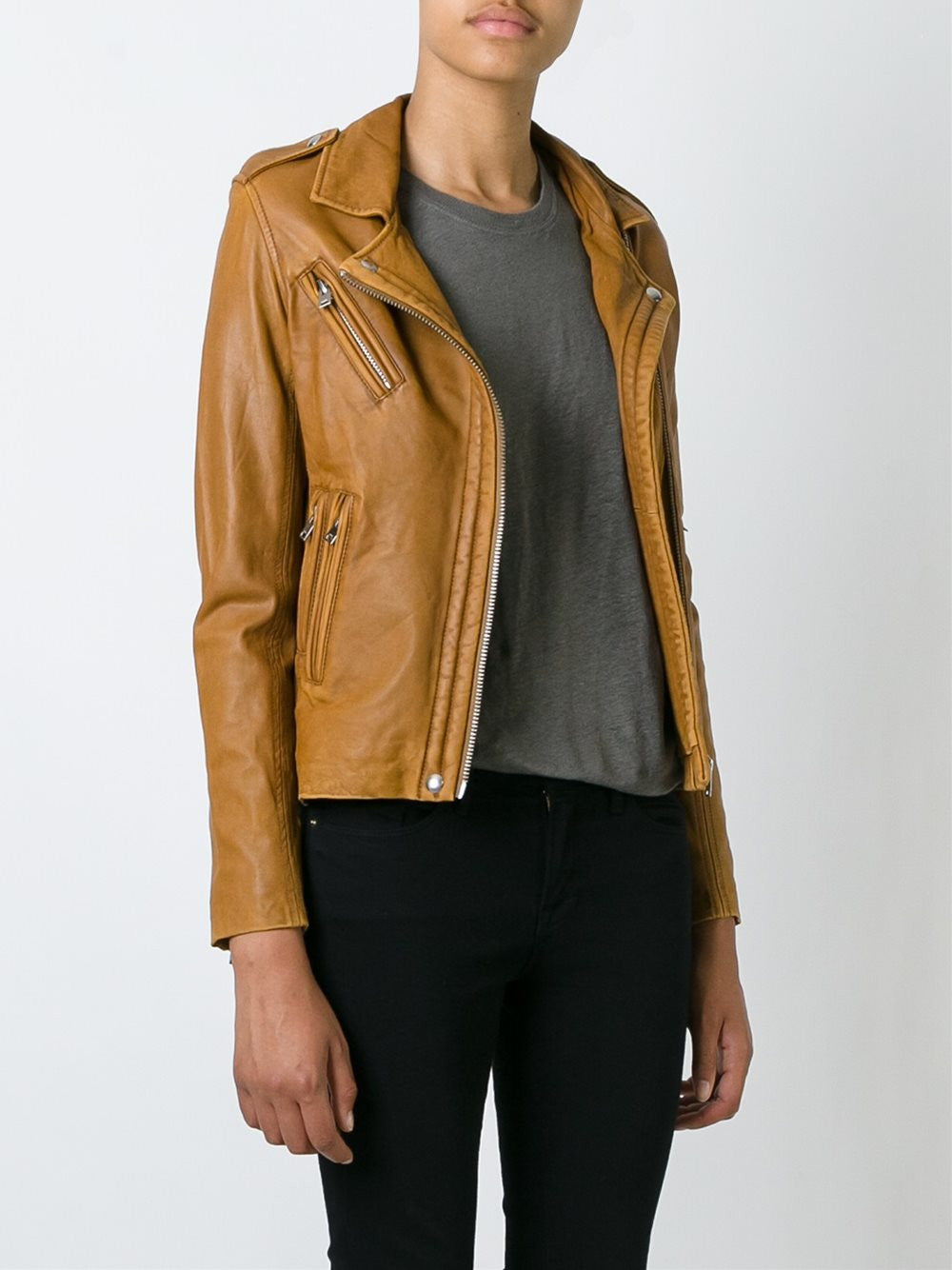 Leather Motorcycle Jacket | 16WWP09 HAN