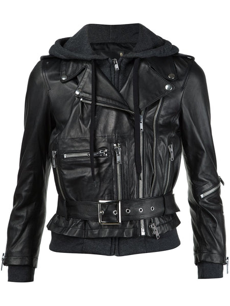 Layered Lambskin Motorcycle Jacket | R13W1045-90