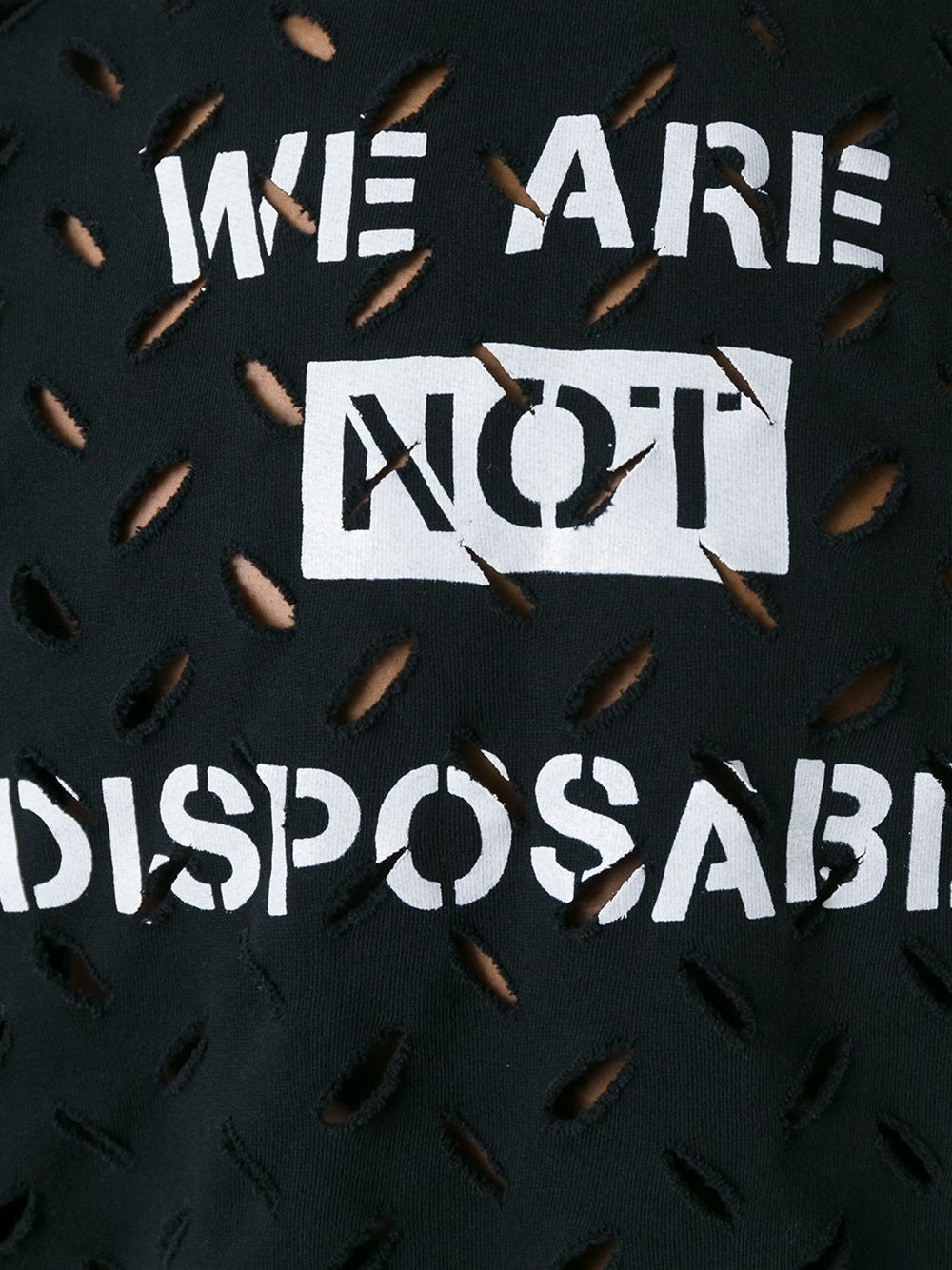'We Are Not Disposable' Pullover | 62288506-J23-GO