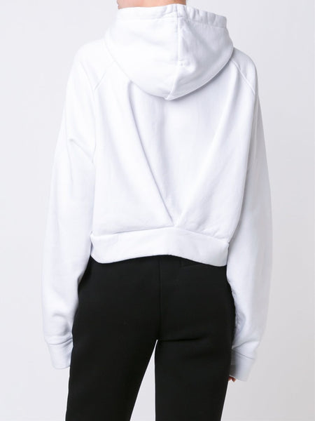 Cropped Cotton Hoodie| OWBB010F16192076