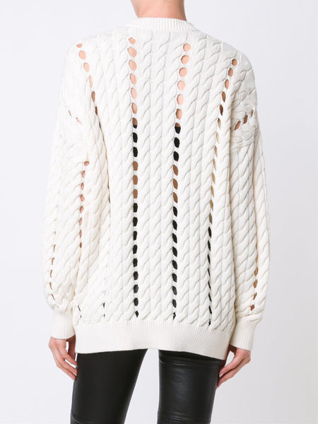 Cable Knit Sweater | 119077P16 YN1640