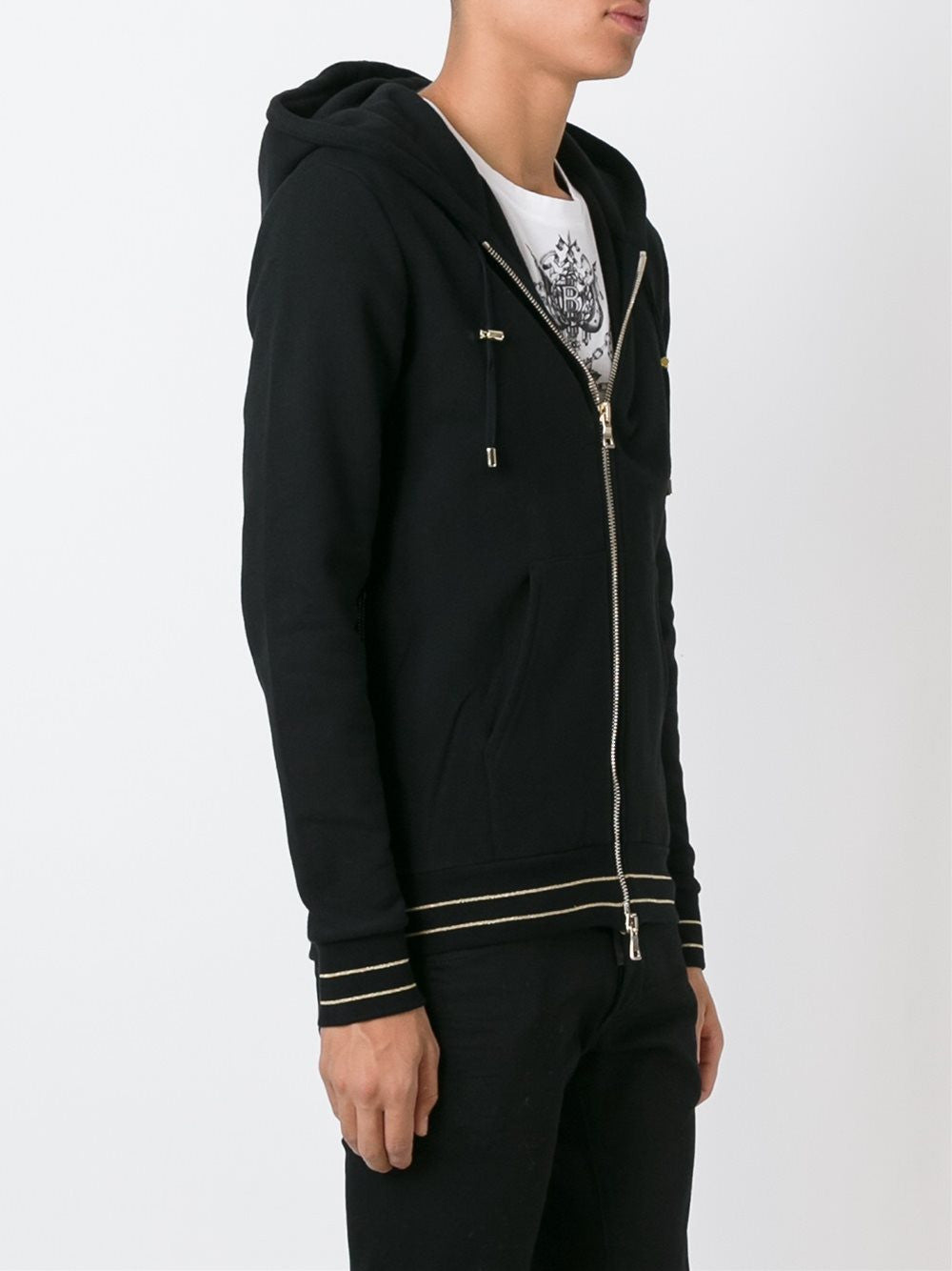 Zip-Up Cotton Hoodie | W6HJ-643D552M