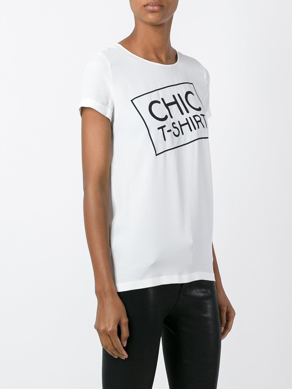 Chic Silk T-Shirt | 0224-5837