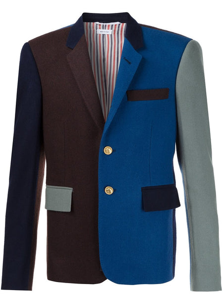 Colour Blocked Wool Blazer | MJC159F-00881