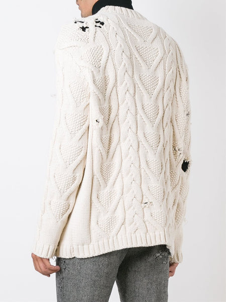 Distressed Cable Knit | PMHA006-F1609-8055