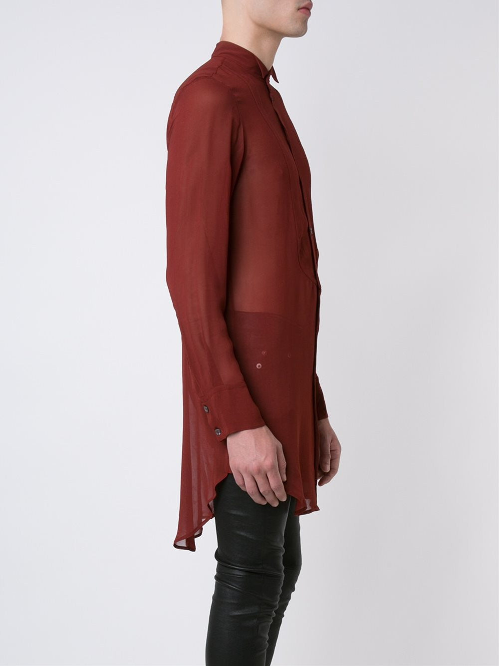 Long Semi-Sheer Shirt | 1602-3610-122