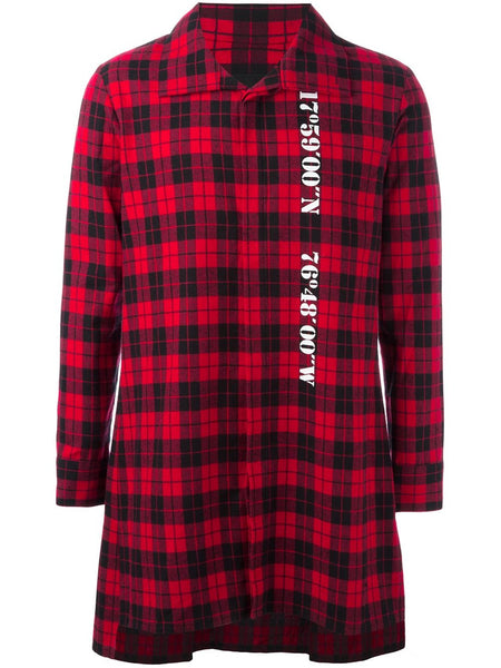 Long Plaid Shirt | K6632