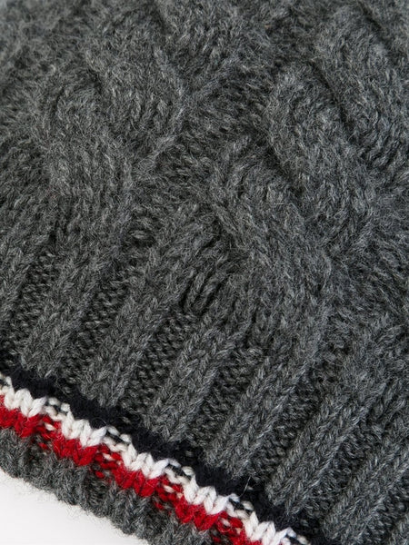 Cable Knit Cashmere Beanie | 00276-00-09968
