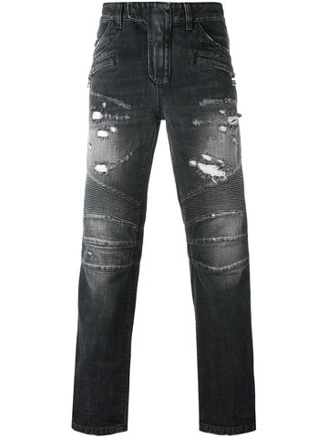 Distressed Biker Jean | W6HD-500D506R