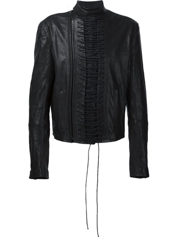 Laced Leather Jacket | 164-3021-569