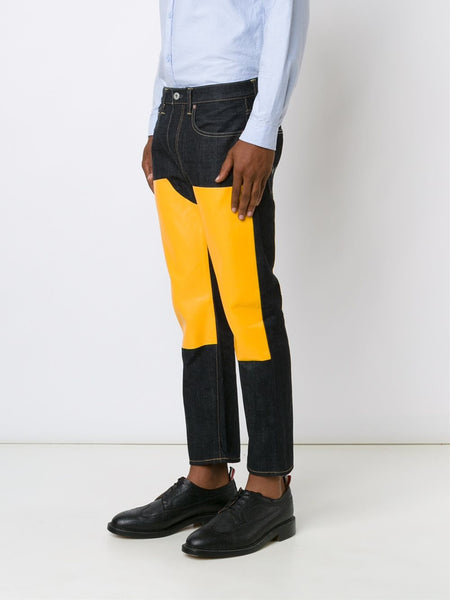Colour Blocked Indigo Jean | P204-051