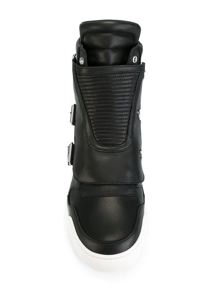 Buckled Leather Sneaker | W6HT323D591