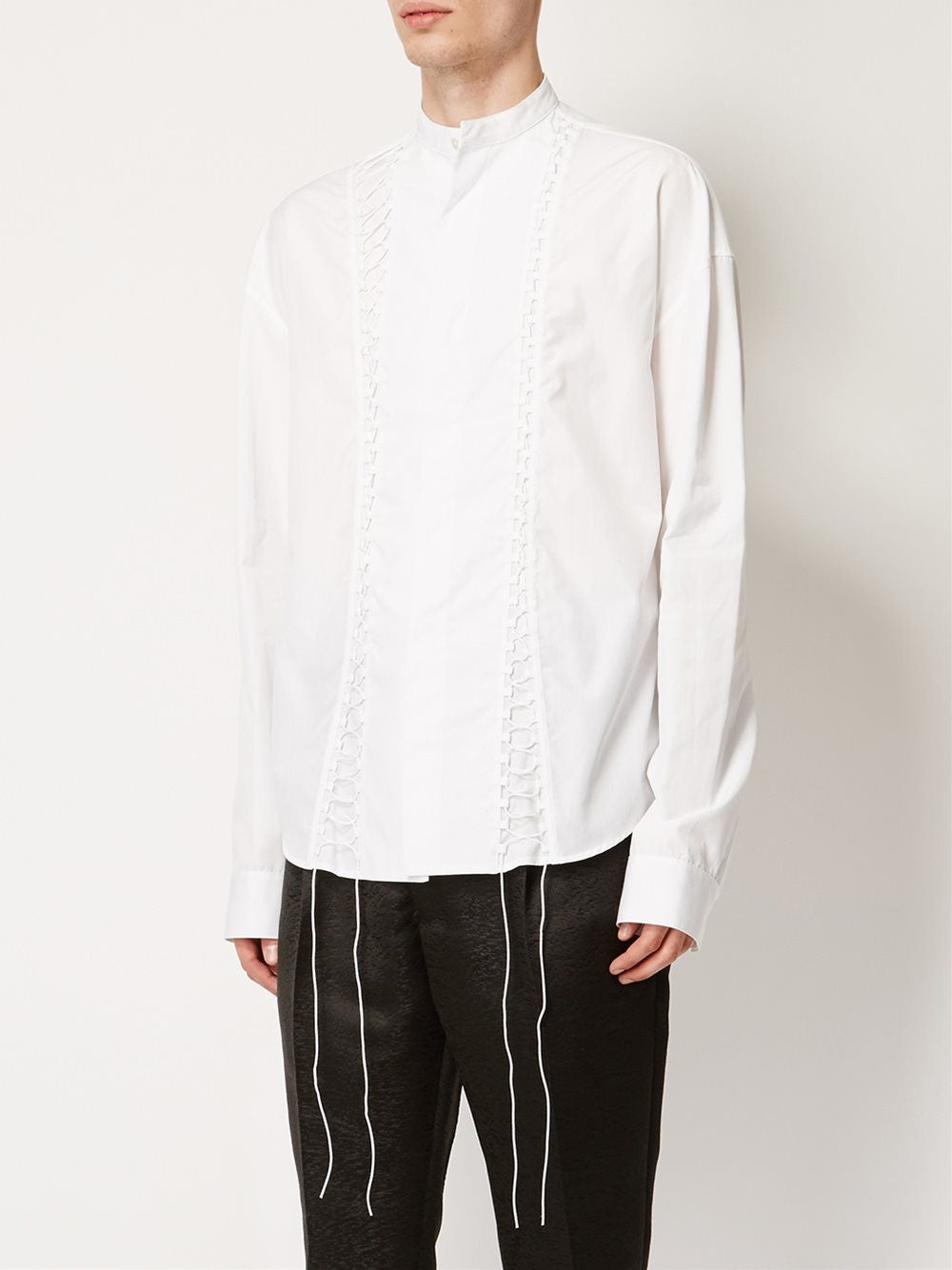 Laced Cotton Shirt | 164-3610-128