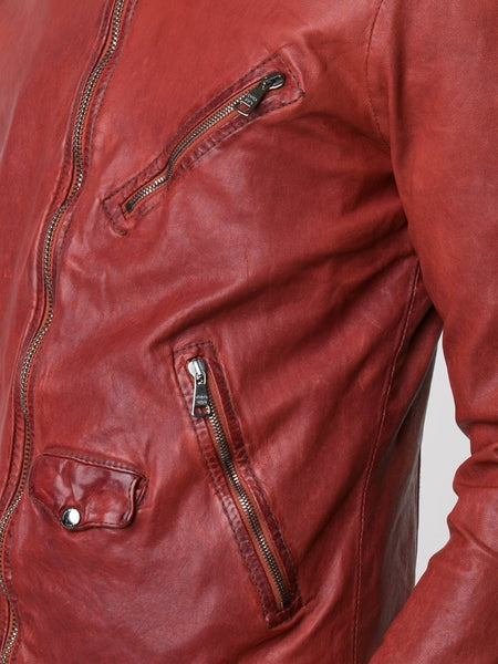 Leather Biker Jacket | GU17F8000V-