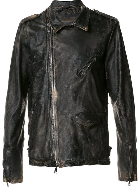 Distressed Motorcycle Jacket | GU17F8052VPTVTD