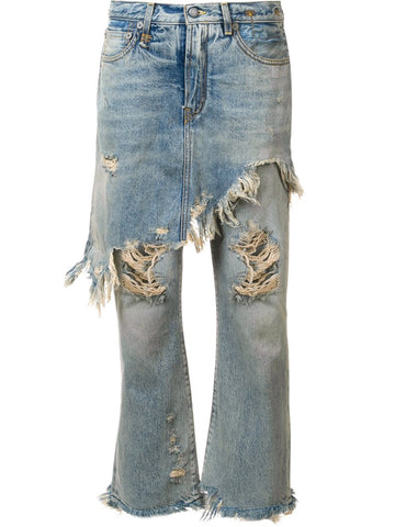 Distressed Layered Jean | R13W0195-200