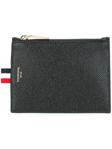 Zipped Pebble Grain Wallet | MAW027L-00198 001