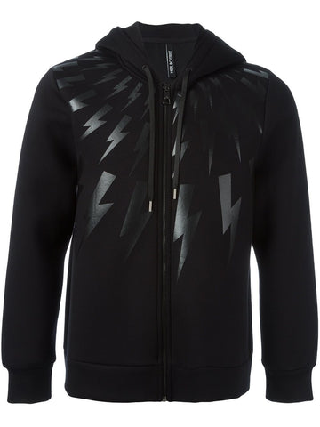 Zip-Up Lightning Hoodie | BJS111O-B536S