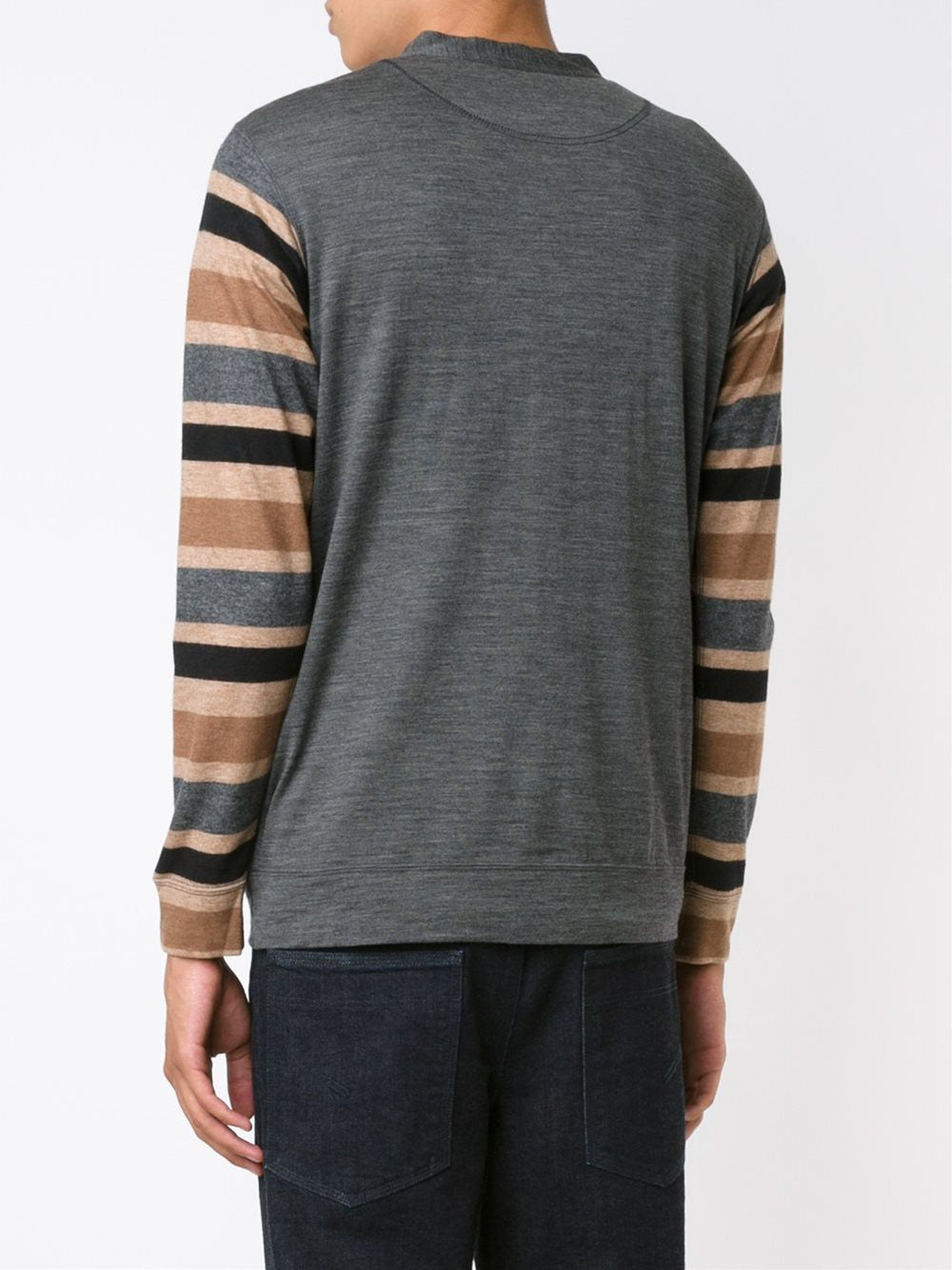 Striped Sleeve Cardigan | T012-051