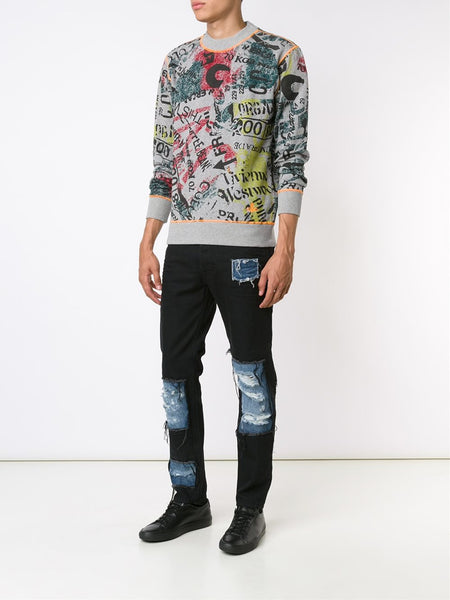 Collage Graphic Pullover | 62288509-J05-GO