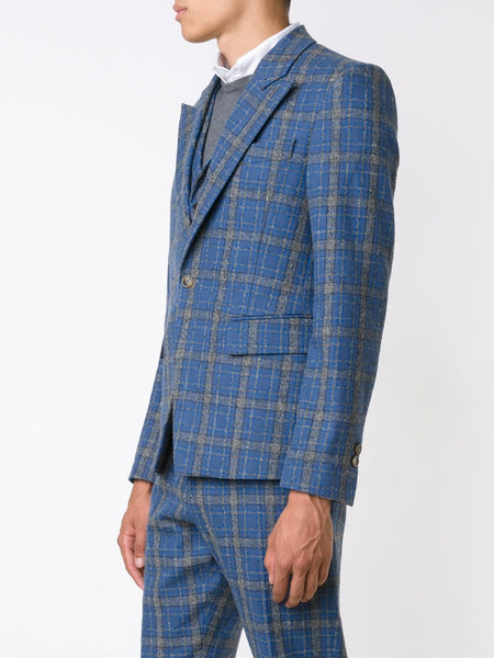 Flannel Vest-Layered Blazer | S25BN0330-S45332