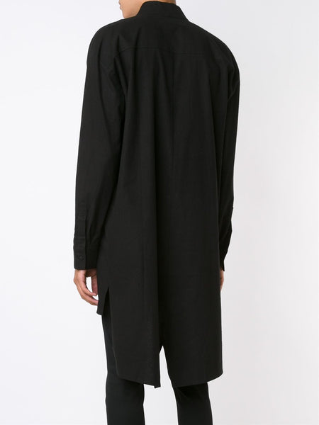 Asymmetric Wrap Shirt | K6633