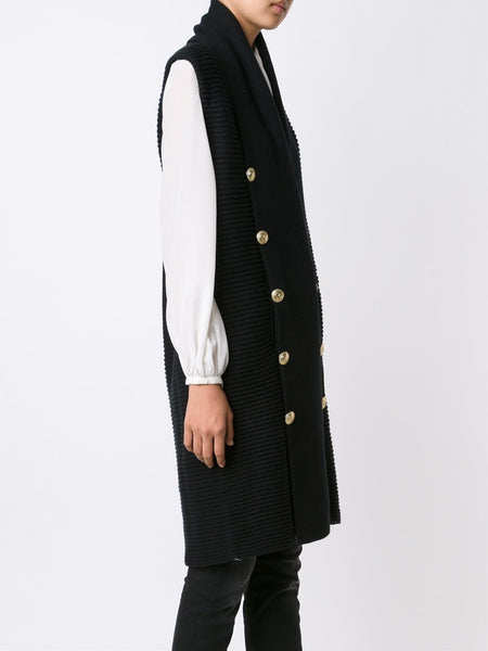Sleeveless Shawl Collar Wrap | FP85001K A5044